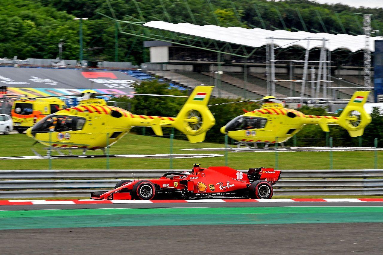 2020年F1第3戦ハンガリーGP土曜 シャルル・ルクレール(フェラーリ)