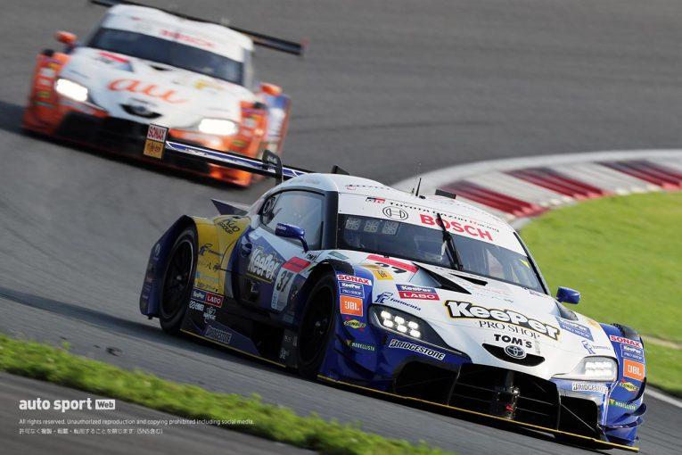 スーパーGT | KeePer TOM'Sがポール・トゥ・ウイン。GRスープラがトップ5独占&GT300でもデビューウインの快挙を達成【第1戦富士決勝】