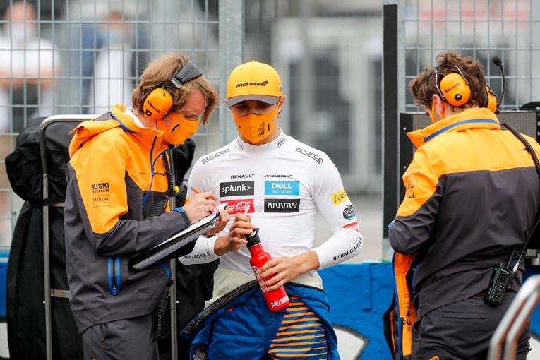 F1 | ノリス「蹴り出しは良かったがホイールスピンでひどいことに。僕のミス」:マクラーレン F1第3戦ハンガリーGP決勝