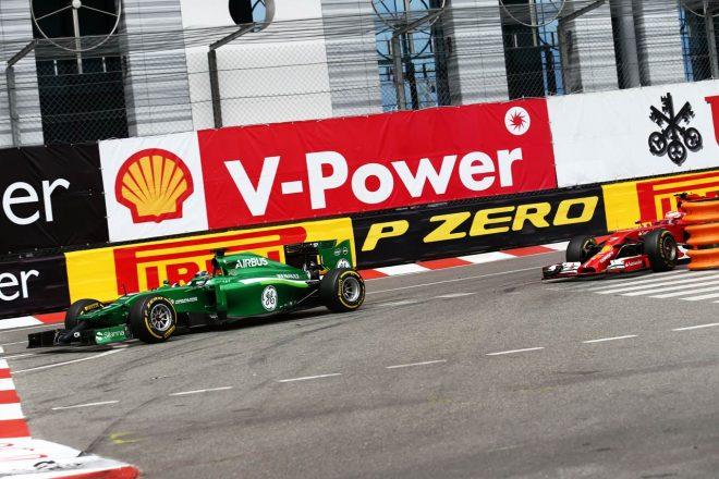 2014年F1モナコGP ビアンキが可夢偉の背後に迫るきっかけはライコネンとのバトルにあった。