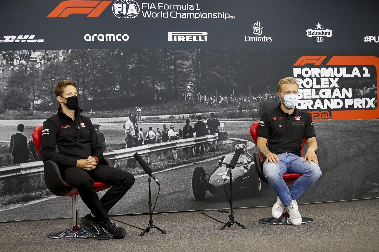 2020年F1第7戦ベルギーGP ロマン・グロージャンとケビン・マグヌッセン(ハース)
