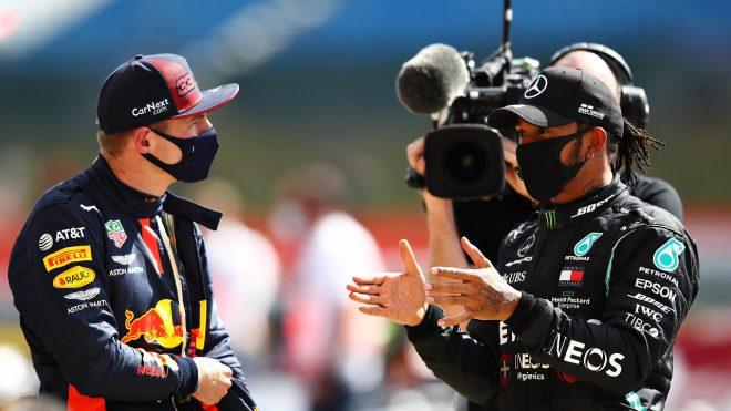 2020年F1第4戦イギリスGP日曜 マックス・フェルスタッペン(レッドブル・ホンダ)とルイス・ハミルトン(メルセデス)