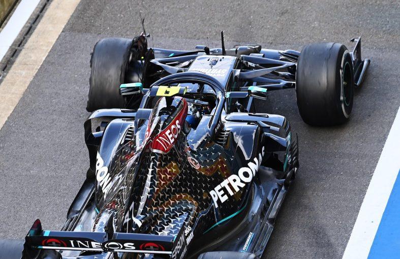 F1 | ボッタス「最悪のタイミングで、突然タイヤが壊れた」2位からポイント圏外に脱落:メルセデス【F1第4戦決勝】