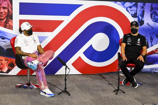 2020年F1第5戦70周年記念GP 木曜記者会見 ルイス・ハミルトンとバルテリ・ボッタス(メルセデス)