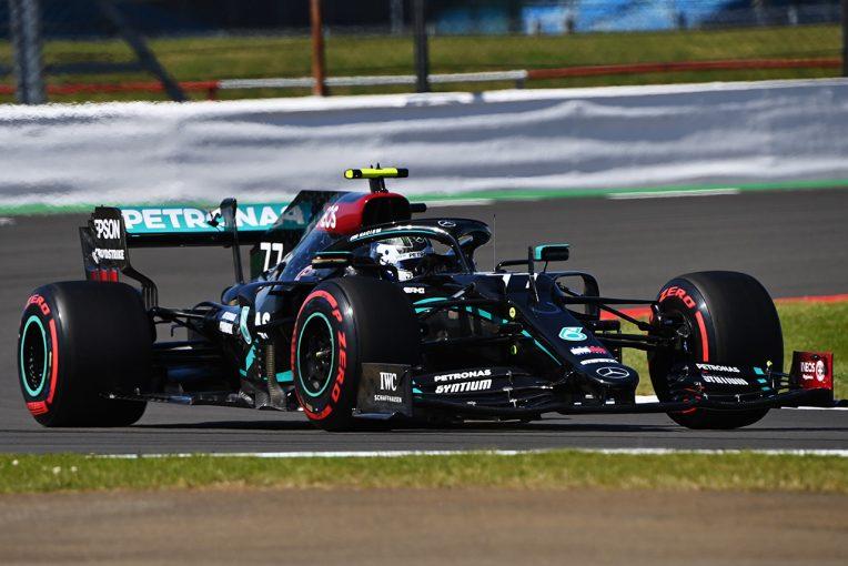 F1   F1 70周年記念GP FP1:全車がソフトタイヤのみを使用する珍しいセッション。ボッタスがトップタイム