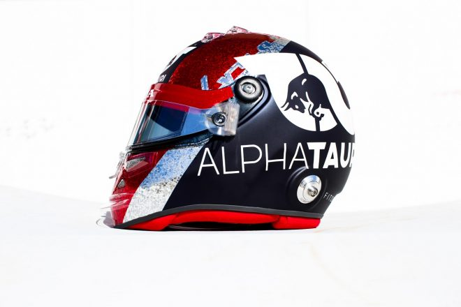 2020年F1第5戦70周年記念GP ダニール・クビアト(アルファタウリ・ホンダ) スペシャルデザインのヘルメット