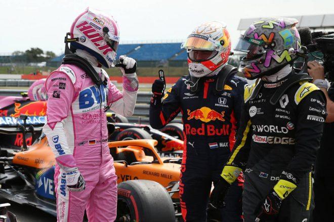 ニコ・ヒュルケンベルグ(レーシングポイント)、マックス・フェルスタッペン(レッドブル・ホンダ)、ダニエル・リカルド(ルノー)