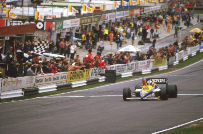 1985年F1ヨーロッパGP(ブランズ・ハッチ) ナイジェル・マンセル(ウイリアムズ・ホンダ)
