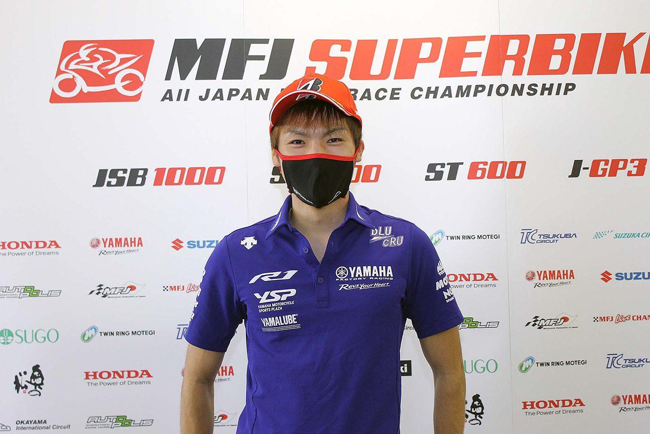野左根航汰がダブルポールポジション。レース1はヤマハが1列目独占/全日本ロード第1戦SUGO JSB1000予選