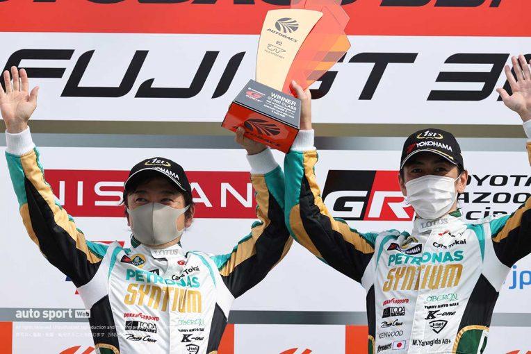 スーパーGT | ふたり揃って久々の優勝。柳田「このチームに声をかけてもらって本当に感謝」【第2戦GT300優勝会見】