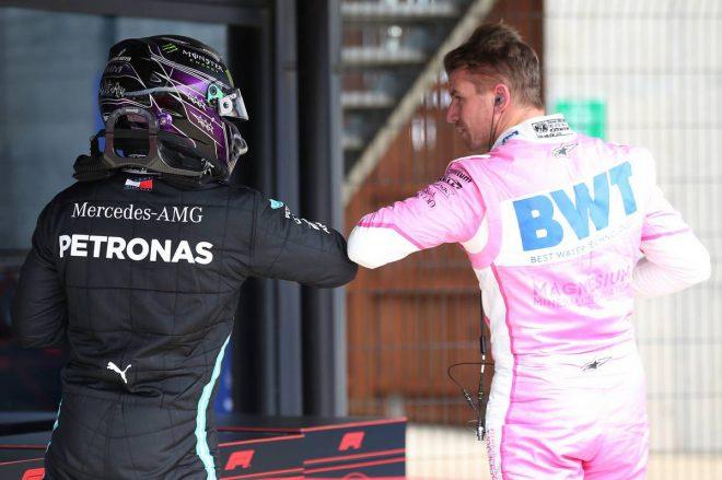 ルイス・ハミルトン(メルセデス)&ニコ・ヒュルケンベルグ(レーシングポイント)