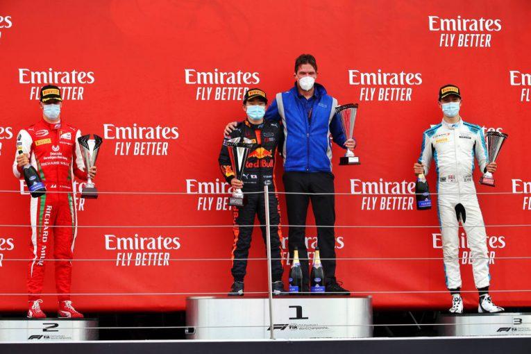 海外レース他 | 【追記】初優勝の角田裕毅、ランキング6位に浮上【順位結果】FIA-F2第5戦イギリス レース2