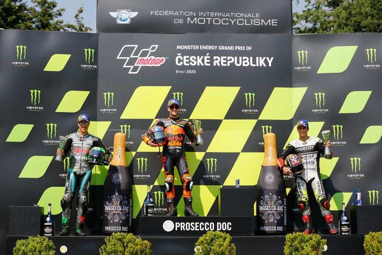 MotoGP | KTMに初優勝をもたらしたビンダー「残り10周はリヤタイヤが厳しかった」/MotoGP第4戦決勝トップ3コメント