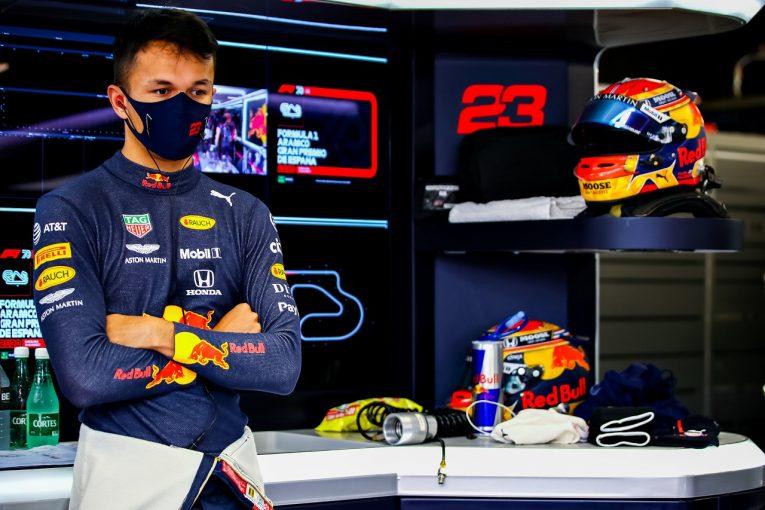 F1 | アルボン「午後のセットアップ変更でつまずいた。予選に向け修正する」レッドブル・ホンダ【F1第6戦金曜】