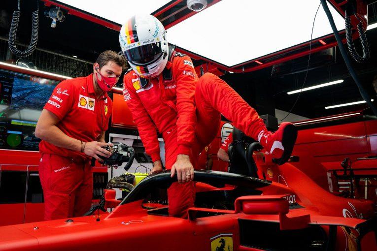 F1   新シャシーのベッテル「まだ問題解決とは言えないが、車の感触はよくなった」フェラーリ【F1第6戦金曜】
