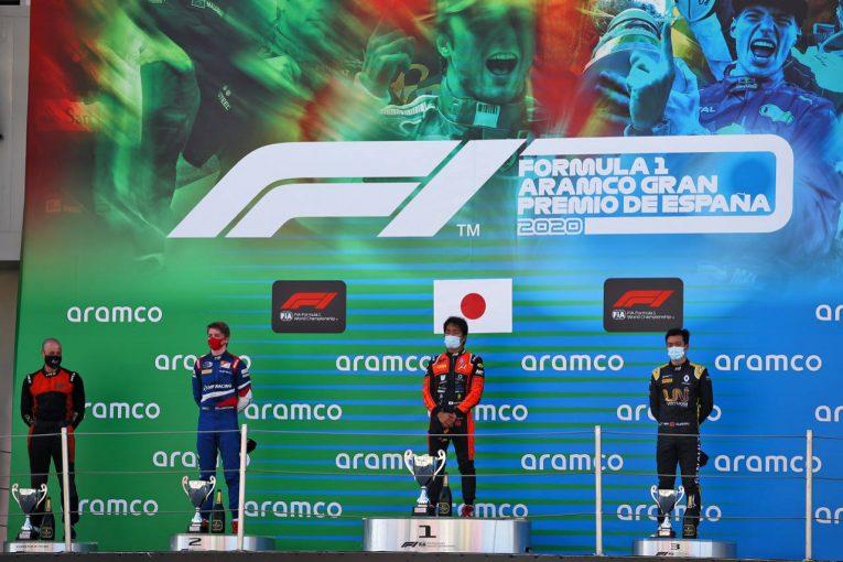 海外レース他 | 松下信治が優勝。4位入賞の角田裕毅がランキング4番手まであと2ポイント【順位結果】FIA-F2第6戦スペイン レース1