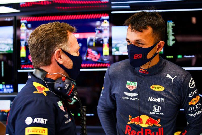 F1   アルボン6番手「予選パフォーマンスが改善しつつある」レッドブル・ホンダ【F1第6戦】