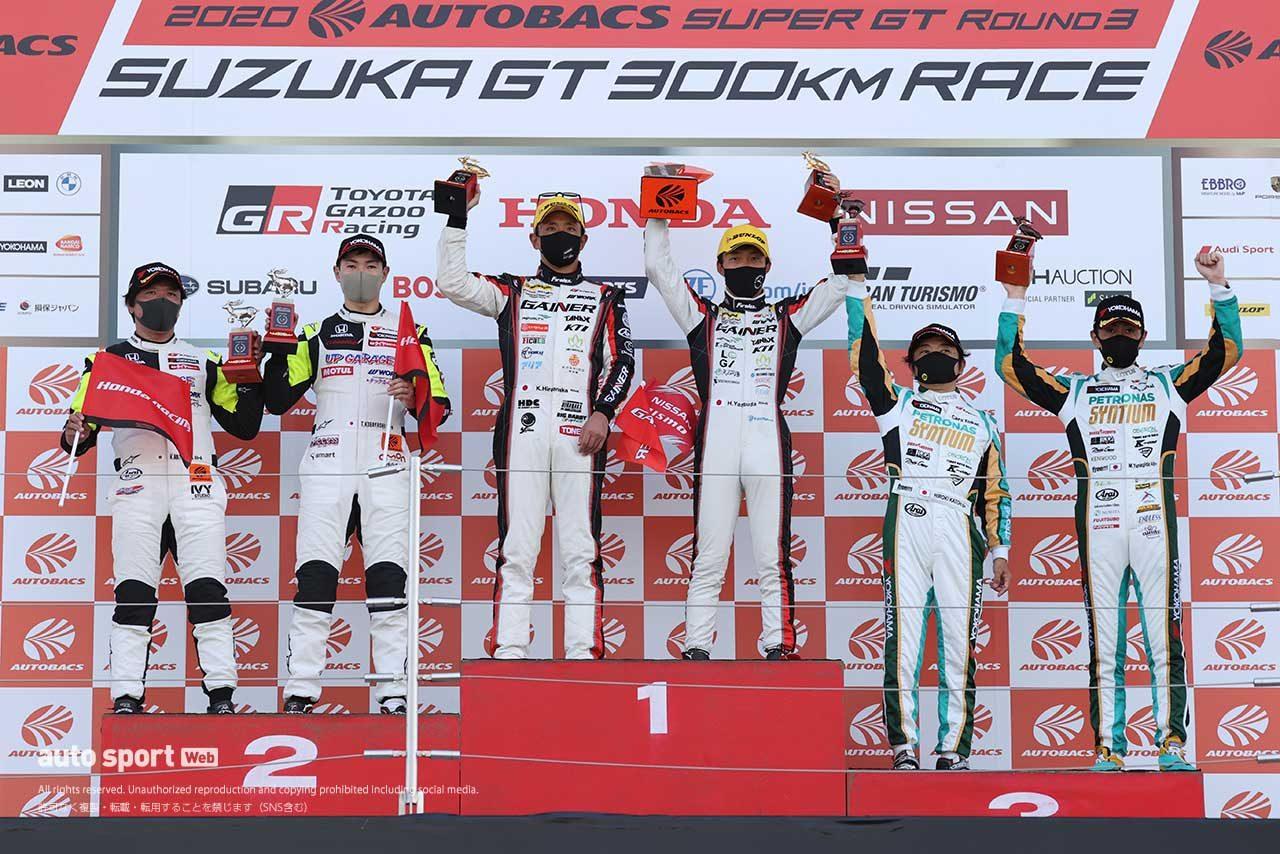 第3戦鈴鹿 GT300クラス表彰台