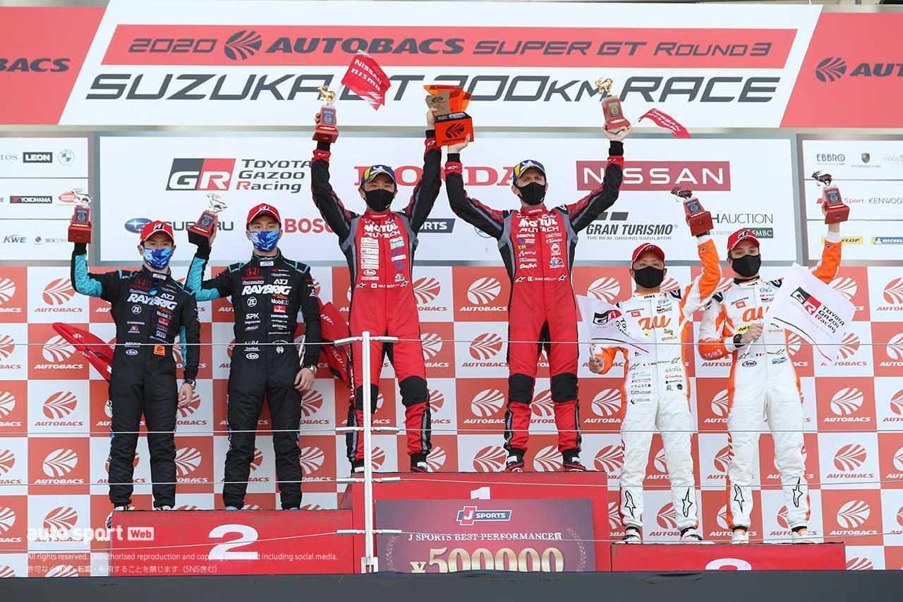 2020年第3戦鈴鹿 GT500クラス表彰台