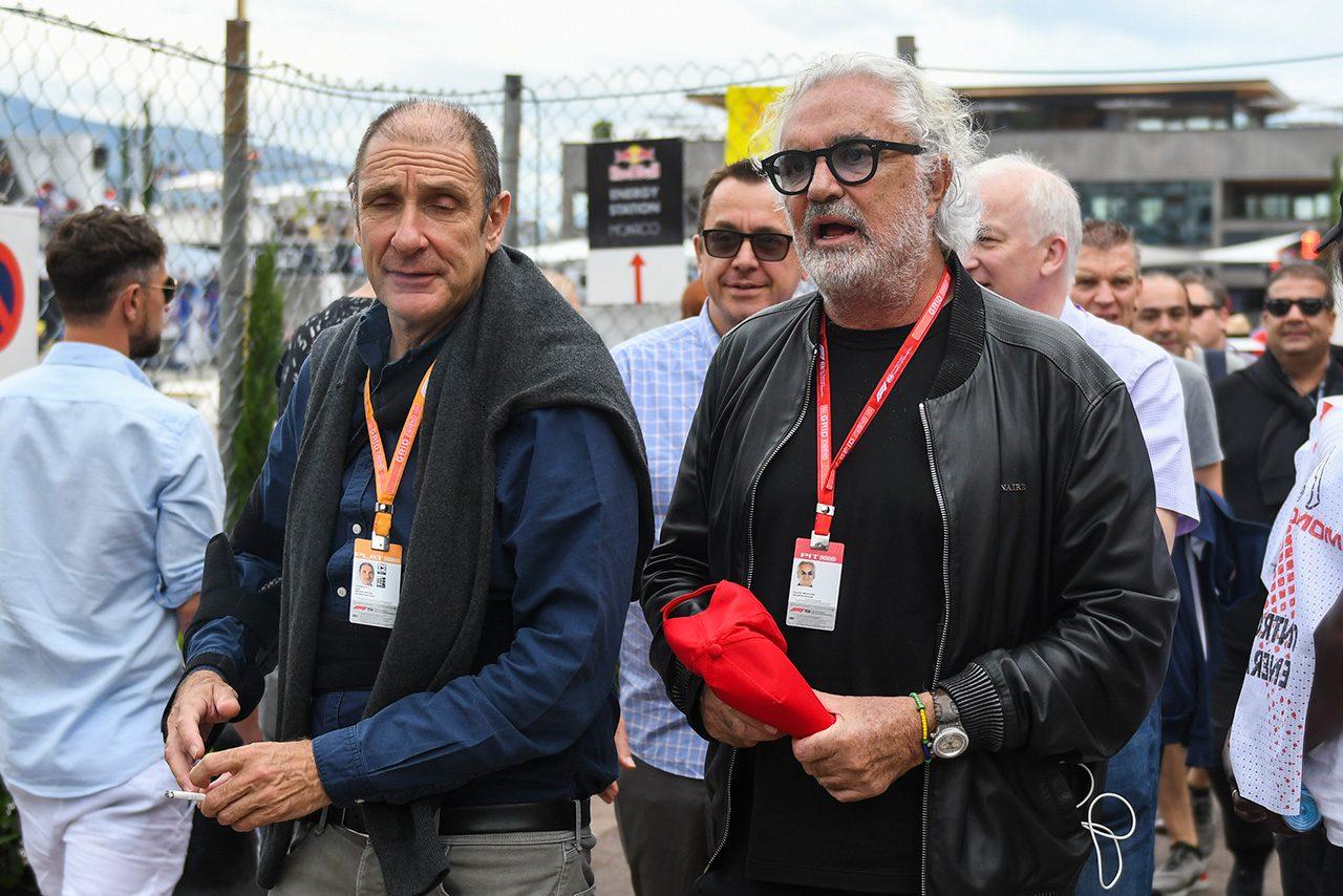 2019年F1第6戦モナコGP ブルーノ・ミシェル(FIA-F2 CEO)&ブラビオ・ブリアトーレ