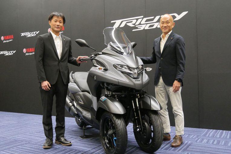 MotoGP | ヤマハ、転ばないバイクの開発へ。3輪スクーター『トリシティ300』に搭載されるLMWテクノロジーとは?