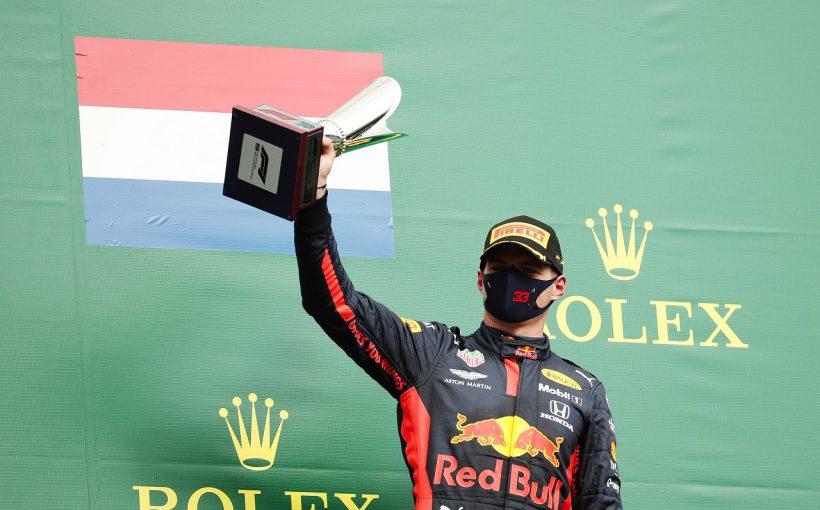F1 | フェルスタッペン「大満足の3位とはいえない。パンクが心配だったがピットに入れず」レッドブル・ホンダ【F1第7戦】