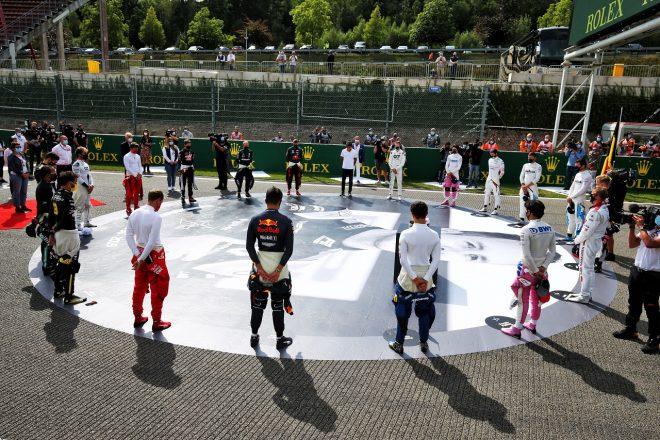 2020年F1第7戦ベルギーGP 決勝前に故アントワーヌ・ユベールを偲び1分間の黙祷