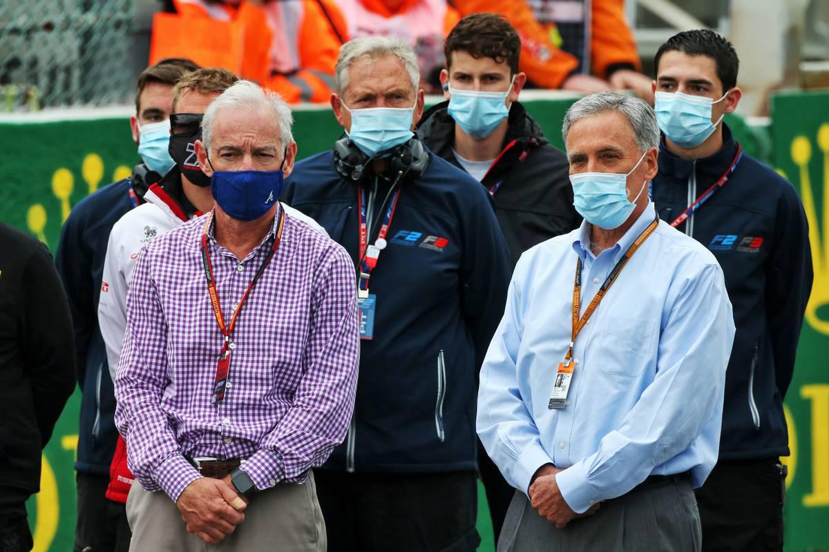 2020年F1第7戦ベルギーGP グレッグ・マッフェイ(リバティ・メディアCEO)&チェイス・キャリー(F1 CEO)