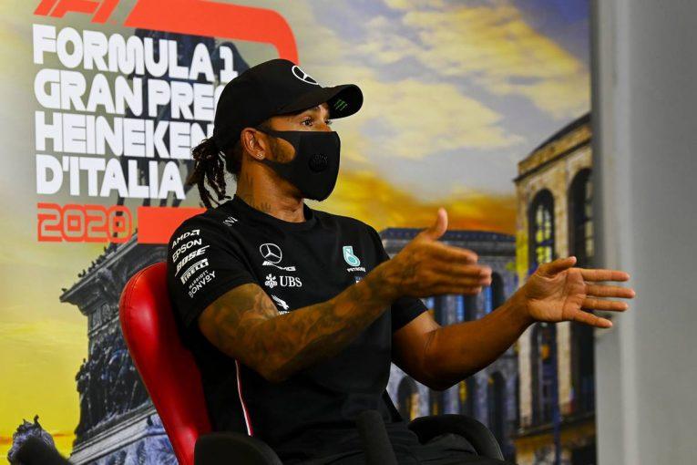 F1   F1イタリアGP木曜会見(2):PU予選モード禁止は「褒め言葉だと受け取っている」と余裕を見せたハミルトン
