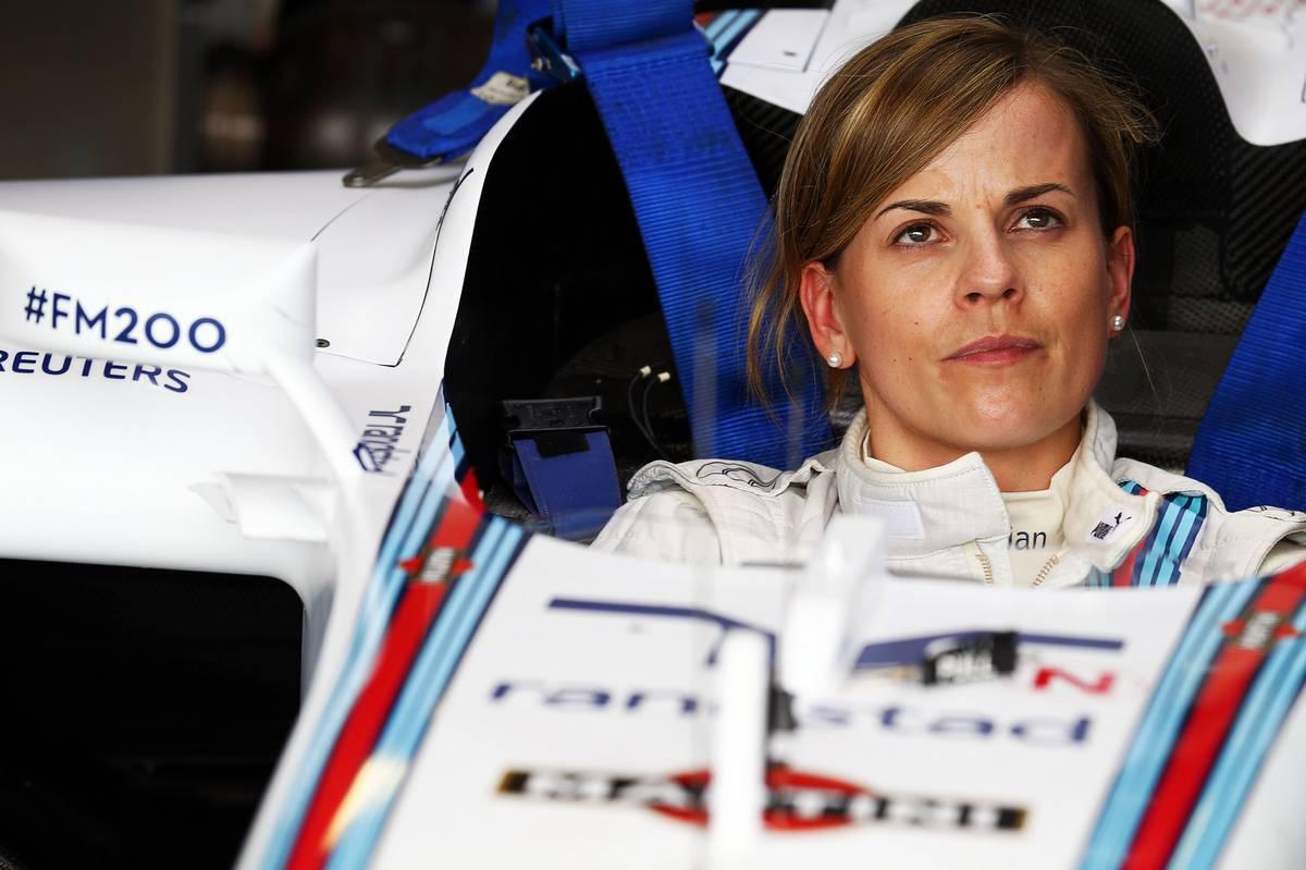 2014年F1イギリスGP スージー・ウォルフ(ウイリアムズ 開発ドライバー)