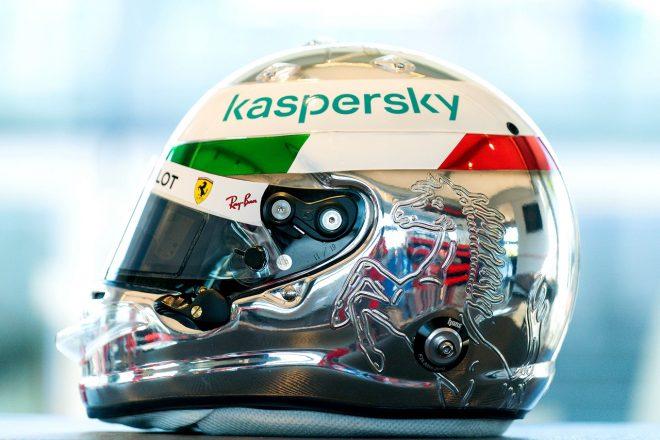 2020年F1第8戦イタリアGP セバスチャン・ベッテル(フェラーリ)のイタリアGPスペシャルヘルメット
