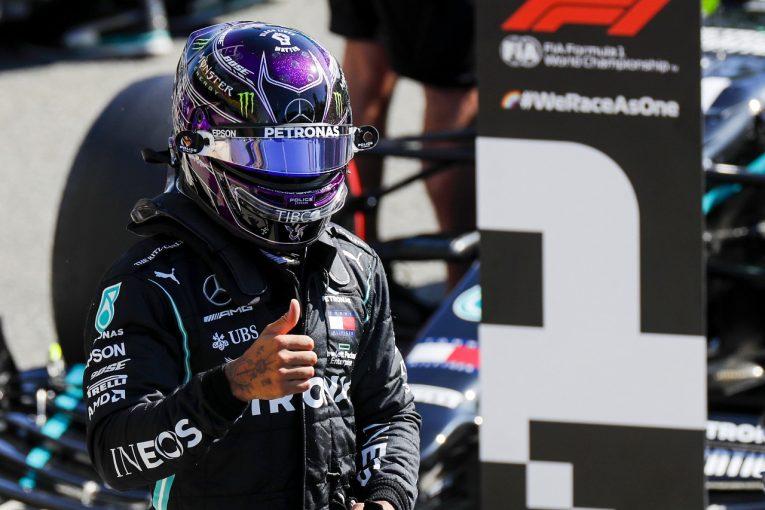 F1 | ハミルトンF1史上最速記録でポール「予選モード禁止でもチームは最高の仕事をしてくれた」メルセデス【F1第8戦】