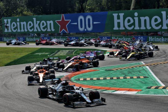 2020年F1第8戦イタリアGP スタートシーン