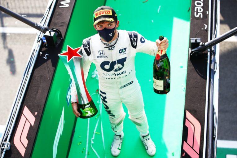 F1   【SNSピックアップ】F1イタリアGP(3):タッグ結成50戦目にピエール・ガスリーF1初優勝。国内外から祝福の声