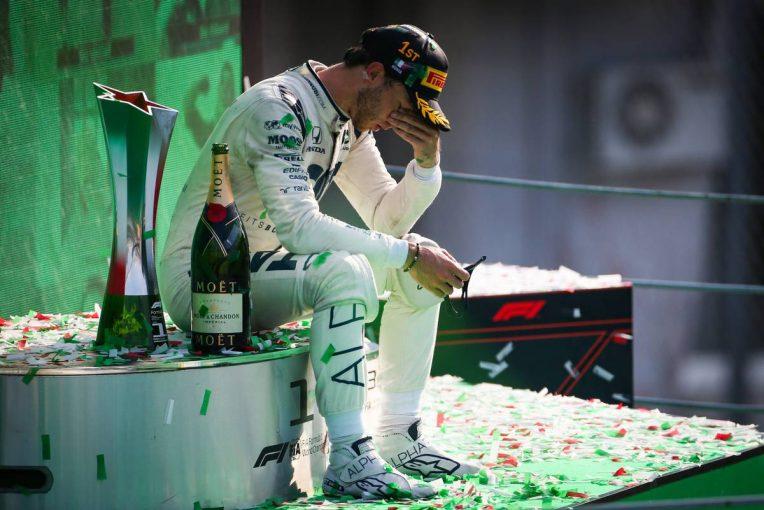 F1 | ガスリー「小さい頃からの夢だったから、ずっと表彰台にいたかった」/F1第8戦イタリアGP決勝会見