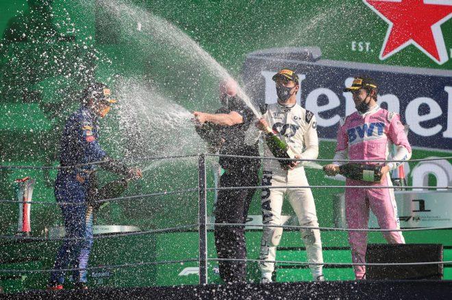 2020年F1第8戦イタリアGP 表彰式