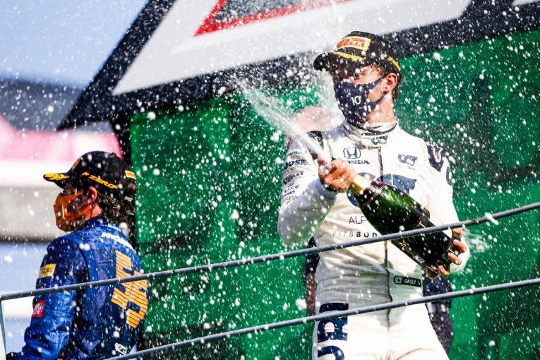 F1 | アルファタウリ・ホンダF1コラム:めったに訪れない幸運を、自ら呼び込んで初優勝を飾ったガスリー