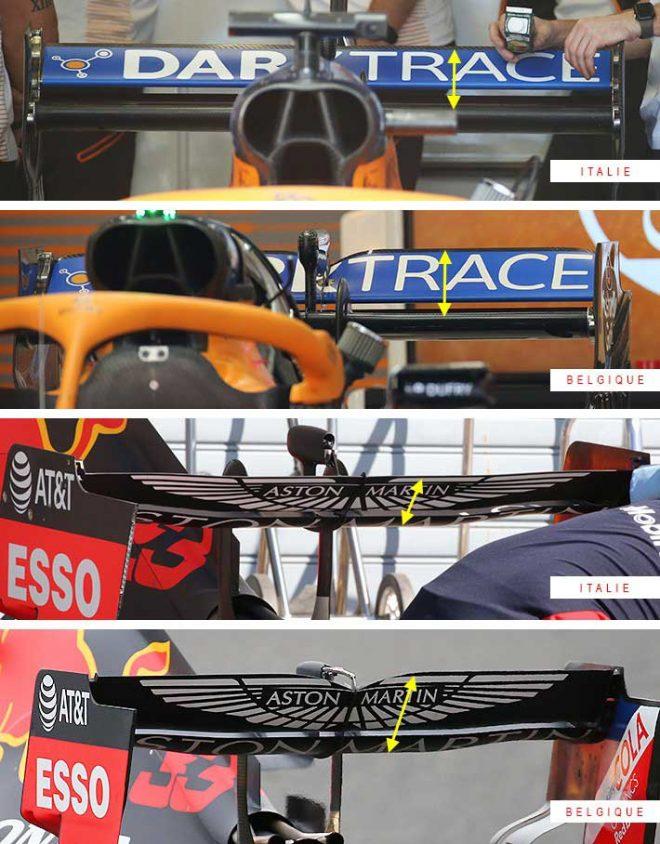 F1第8戦イタリアGP:マクラーレンやレッドブルの上部ウイング