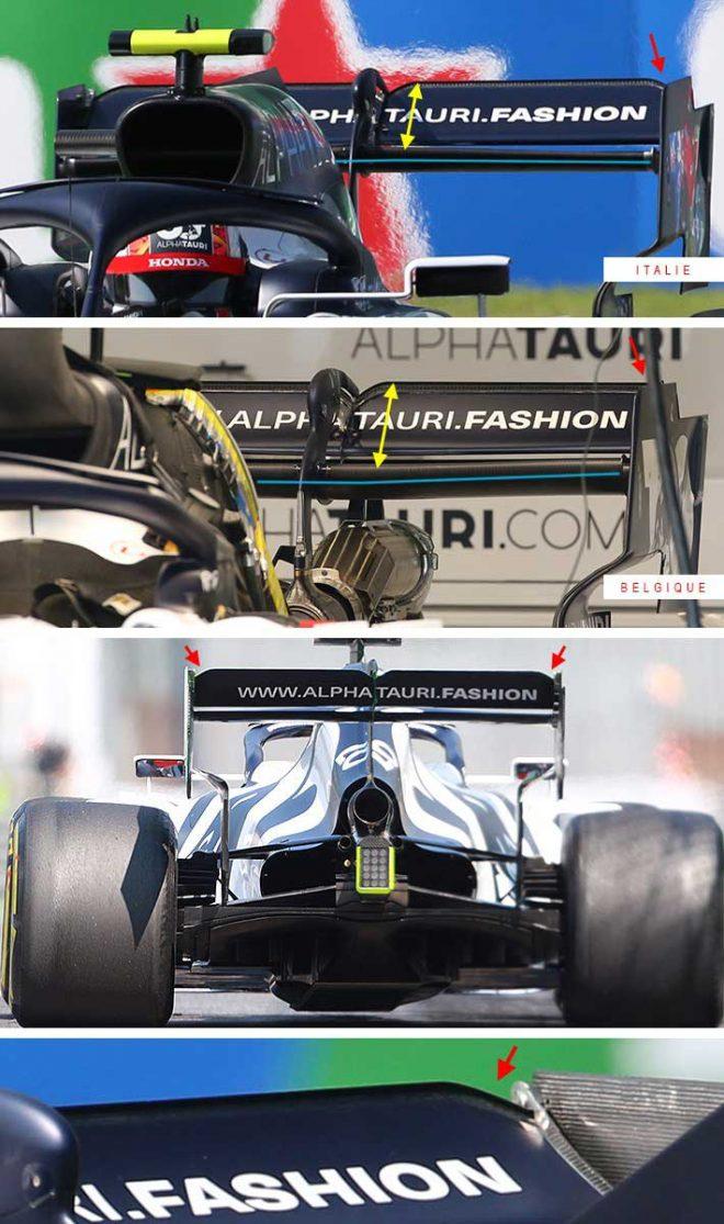 F1第8戦イタリアGP:アルファタウリAT01の上部ウイング