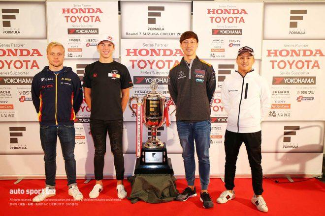 2017年の全日本スーパーフォーミュラ選手権に参戦していたガスリー。序盤は苦労する様子も見せていたが、最終的にはタイトルを争う姿を見せた。