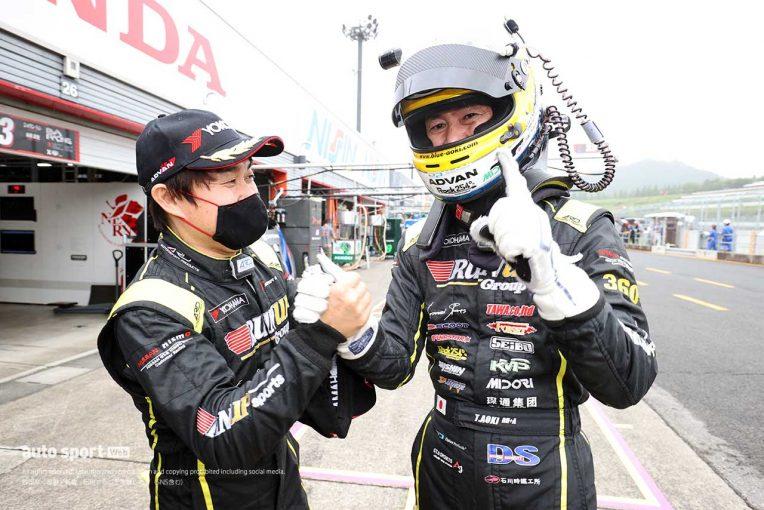 スーパーGT | RUNUP RIVAUX GT-Rがトップタイムの奪い合いを制して初ポール獲得【第4戦もてぎGT300予選】