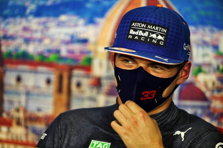 F1 | 【気になる一言】「激しいダンスでもしていたんじゃない?」上機嫌のフェルスタッペン、体力的に厳しいサーキットも歓迎