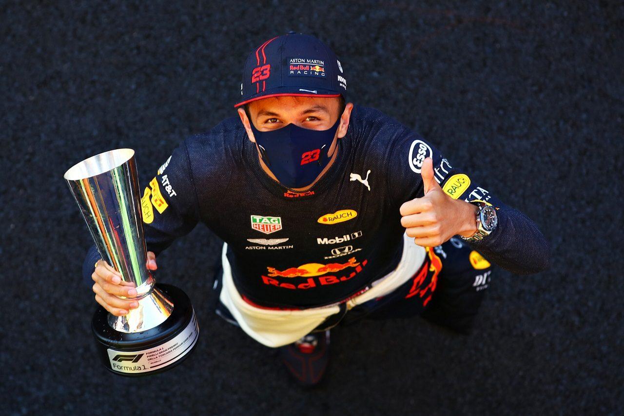 2020年F1第9戦トスカーナGP アレクサンダー・アルボン(レッドブル・ホンダ)が3位を獲得