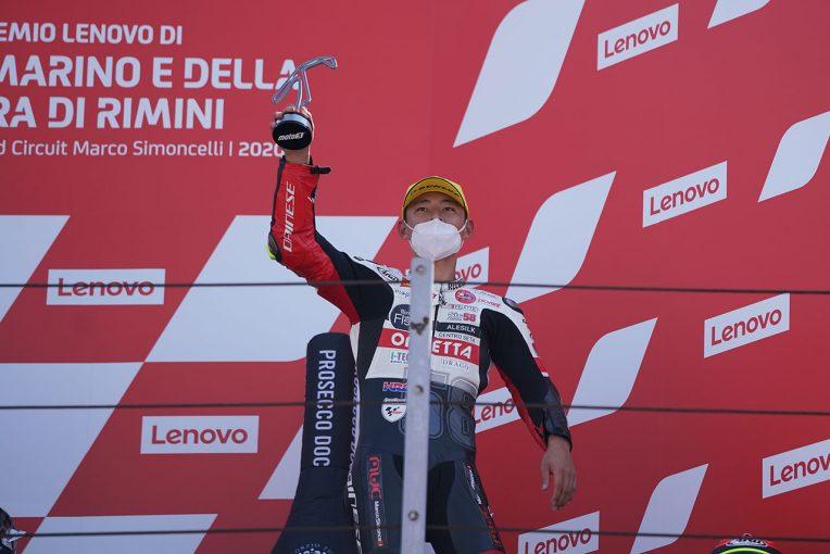 MotoGP | Moto3:3位表彰台の鈴木竜生「厳しいレースでしたがいい結果でうれしい」/MotoGP第7戦サンマリノGP