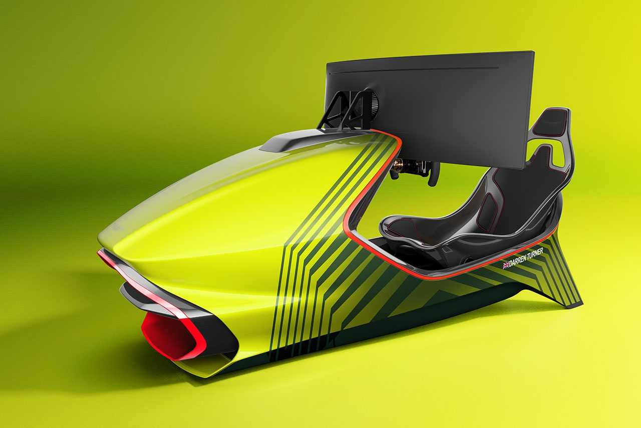 アストンマーティン、カーボンモノコックが特徴の初レーシングシミュレーター『AMR-C01』を発表