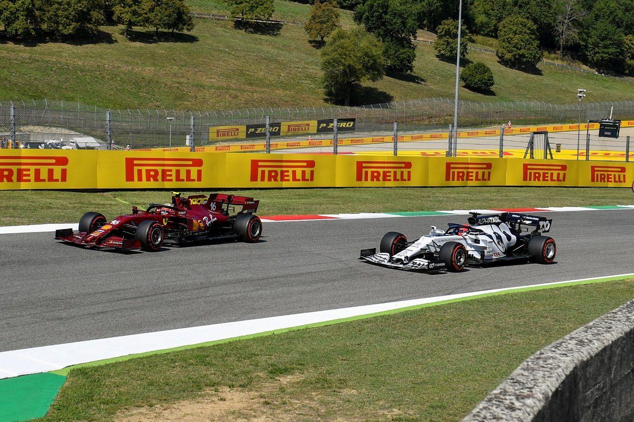 2019年F1第9戦トスカーナGP ダニール・クビアト(アルファタウリ・ホンダ)とシャルル・ルクレール(フェラーリ)