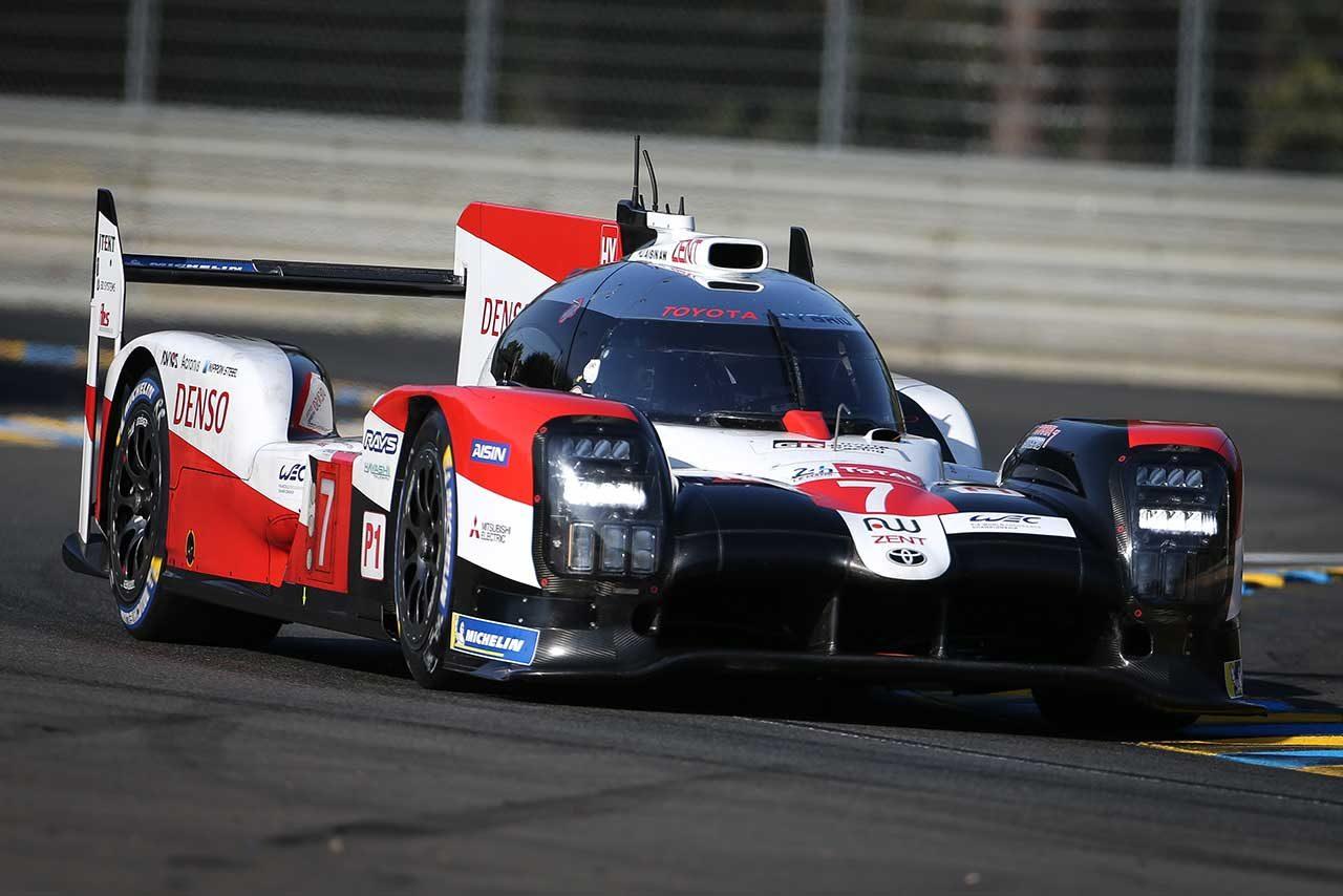 第88回ル・マン24時間レースのポールポジションを獲得した7号車トヨタTS050ハイブリッド