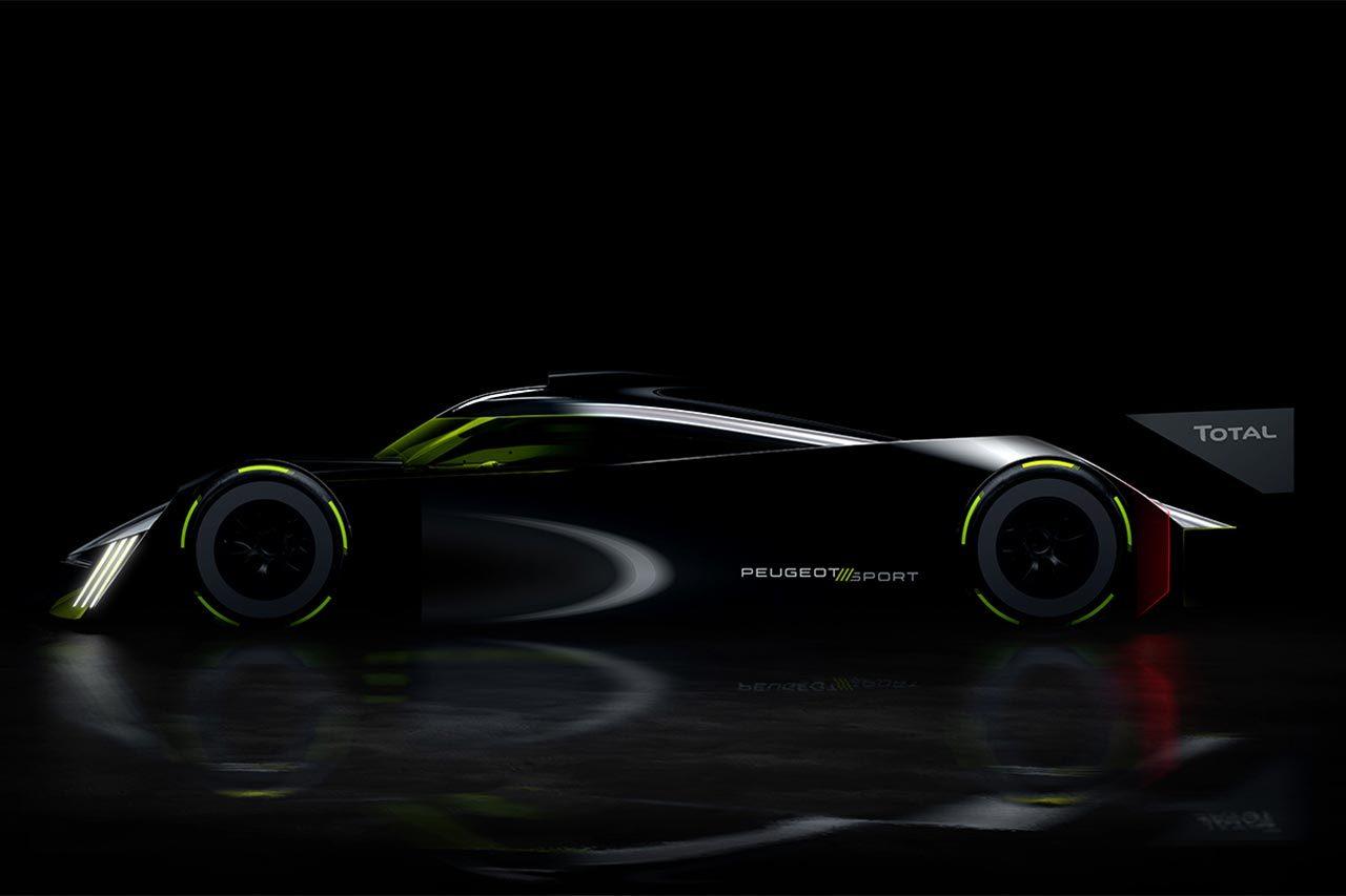 プジョーが公開したLMHカーのシルエットイメージ