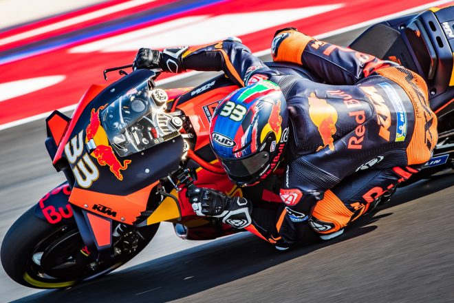 MotoGP | MotoGP第8戦:タイム差0.1秒以内の戦いを制し、KTMのビンダーが初日総合トップ。中上は0.002秒差の2番手に躍進