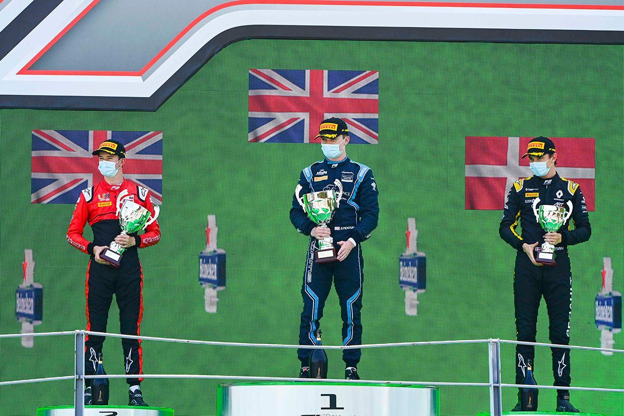 2020年FIA-F2第8戦イタリア(モンツァ)レース2 表彰式